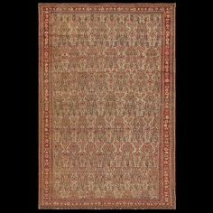 Senneh Rug - 18587 | Persian Formal 4' 2'' x 6' 4'' | Ivory, Origin Persia…