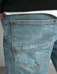 Rip detail skinny jeans - Jeans - Bershka Indonesia