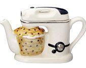 The 'Food Mixer' full size Teapot by CartersofSuffolk on Etsy Teapot Design, Cute Teapot, Ideas Prácticas, Gift Ideas, Tea Pot Set, Teapots And Cups, Chocolate Pots, My Tea, Tea Time