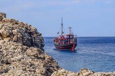 New free stock photo of sea landscape nature via Pexels https://www.pexels.com/photo/bay-beach-blue-boat-462081/