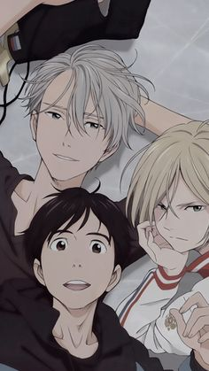 yuri on ice wallpaper Manga Anime, Fanarts Anime, Otaku Anime, Anime Guys, Anime Characters, Yuri On Ice Fondos, Victor Yuri, Tsurezure Children, Onii San