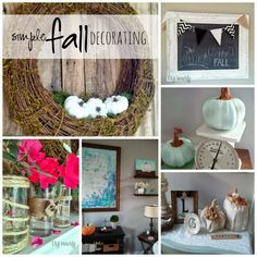 Fall Decor ~ I simplified  my Fall Decor this year, come check it out at www.diybeautify.com