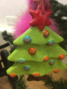 Christmas Tree decorations at The Crafty Cafe