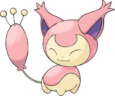 Skitty (Japanese: エネコ Eneco) is a Normal-type Pokémon.It evolves into Delcatty when exposed to a Moon Stone. http://bulbapedia.bulbagarden.net/wiki/Skitty_%28Pok%C3%A9mon%29