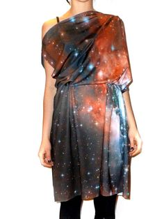 """""""Geeky Chic"""" :)   This is a digitally printed dress with an image from the NASA Hubble Telescope..... This would be perfect to ComicCon or any Sci-fi convention or sci-fi movie premiere:)"""