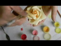 Kara's Couture Cakes - Finishing A Sugar Rose - YouTube