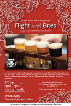 Flight with Bites - A Beer and Food Pairing Social Event