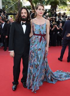 Cannes 2015 - Alessandro Michele and Charlotte Casiraghi in Gucci - Day 5 (montée des marches Rocco e i Suoi Fratelli)