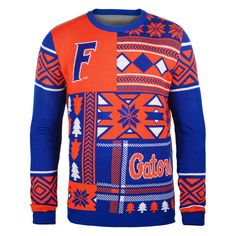 Florida Gators Patches Ugly Sweater - Royal - $52.99