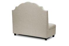 Baxton Studio Trumbull Beige Linen Modern Settee   Affordable Modern Furniture in Chicago