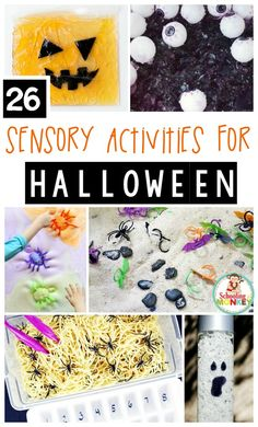 Make Halloween fun for the littlest spooky fans with these adorable Halloween sensory activities! These sensory projects are perfect for little learners.
