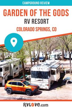 Ideally located in Colorado Springs, right by Garden of the Gods and next to Manitou Springs, this RV resort offers RV sites, tent camping and a range of cabin accommodations. It's an ideal location for exploring the area or just relaxing and enjoying the amenities, like swimming pools, pool table, and nearby hiking and biking trails. Read our in-depth review for more details, and watch our video as we show you the park and all the area has to offer. #rvlife #camping #colorado #rvtravel Travel Hack, Rv Travel, Travel Destinations, Camping Humor, Tent Camping, Best Rv Parks, Manitou Springs, Family Vacation Spots, Best Places To Camp