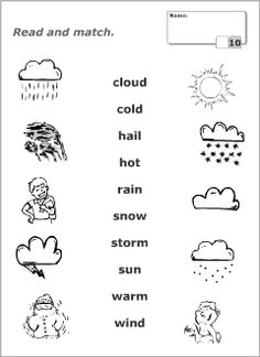 Endearing esl weather worksheet printable for weather vocabulary for kids learning english english lessons, learn English Activities For Kids, English Worksheets For Kindergarten, English Lessons For Kids, English Grammar Worksheets, Kids English, English Resources, English Vocabulary Words, Learn English, Teaching English
