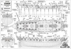 Чертежи корабля фрегат Ессекс