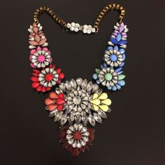 Multicolor Crystal Statement Necklace