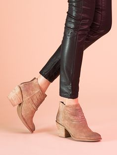 A must have for your fall wardrobe!  Devoted bootie in taupe with western fringe inspired detailing | Seychelles Footwear