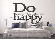 dodatki - dekoracje - napisy-zagłówek DO happy cytat napis na ścianę