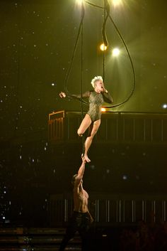 Pink performs on the 56th Annual GRAMMY Awards on Jan. 26 in Los Angeles