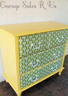 Garage Sales R Us: How to Mod Podge dresser drawers
