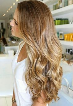 Darker blonde with lighter caramel blonde ombre... gorgeous!!!