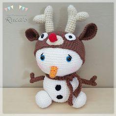 Amigurumi Muñeco de Nieve Rudolph