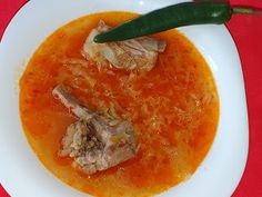 Lulu - Povesti din Bucatarie: Bors de varza cu costita de porc Thai Red Curry, Ethnic Recipes, Pork