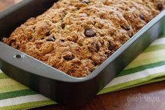 I made this Low Fat Chocolate Chip Zucchini Bread | Skinnytaste and it was good.  It doesn't taste much like Zucchini bread but it was a good way to hide veggies from my boys!