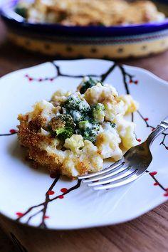 Broccoli-Cauliflower Casserole by thepioneerwoman #Casserole #Broccoli #Cauliflower #Cheese