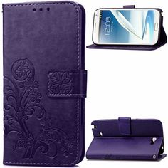 For Samsung Galaxy Note 2 Cover Flip PU Leather Phone Wallet Case For Samsung Galaxy Note 2 Case For Samsung Note 2 N7100 }<