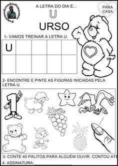 Atividade Inédita letra U - Educação Infantil