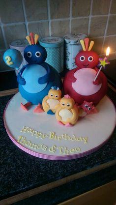 CBeebies Twirlywoos birthday cake for my beautiful boys Twirlywoos Cake, Cake Fondant, Cupcake Cakes, 3rd Birthday Cakes, 1st Boy Birthday, Birthday Ideas, Cbeebies Cake, Lily Cake, Chocolate Sculptures