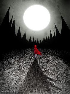"""aysofmagic:        """"The Red Coat"""" by Gastón Viñas"""