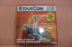 factory sealed STARCOM 4 BOX Mobile Action Pod Coleco 1988 MISB