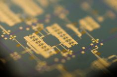 A close-up glimpse at part of a microchip designed to provide high-frequency radar for future space missions, or else boost the speed of satellite communications.This integrated circuit – produced for ESA by Ireland's Arralis company – is the centrepiece of a powerful 94 GHz radar system,…