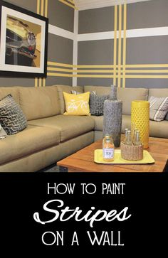 Anyone who has ever used painter's tape has quickly realized that it is not as perfect as the commercials lead you to believe.  Painter's tape can bubble, causing paint to seep underneath and get everywhere.  Painting stripes on a wall requires that painter's tape be perfect, else the stripes will look sloppy.  Here are a few tips for painting stripes on a wall to get a professional result.