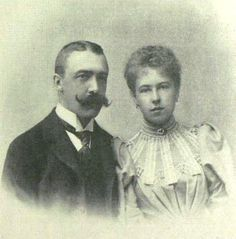 gr-Princess Alexandra of Saxe-Coburg-Gotha and Prince Ernst II of Hohenlohe-Langenburg at Coburg, Bayern, Germany on 20 April 1896. Five children.