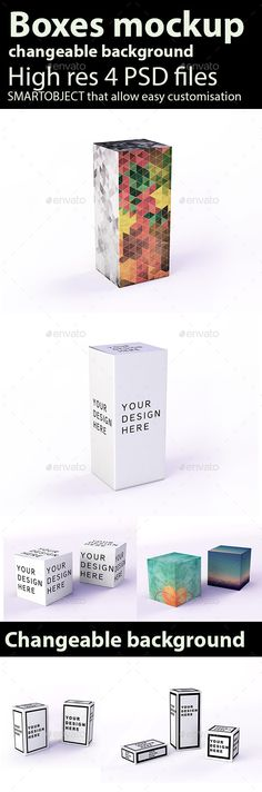 Boxes Mockup | #boxesmockup #mockups | Download: http://graphicriver.net/item/boxes-mockup-/8842965?ref=ksioks