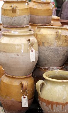 beautiful rustic pottery.  My good friend Suzi, got me interested in pottery.  Now I have quite a collection!