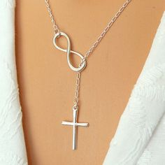 Chic Women's Eight Cross Shape Pendant Necklace