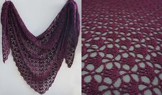 crochet shawl free Here is a classic shawl pattern. This shawl is simply a must for every crocheter. The Mahogany Shawl is an amazing realization of the South Bay Shawlette. This lig Hairpin Lace Crochet, Crochet Shawl Free, Crochet Shawls And Wraps, Basic Crochet Stitches, Crochet Scarves, Crochet Vests, Crochet Cape, Crochet Shirt, Knitted Shawls