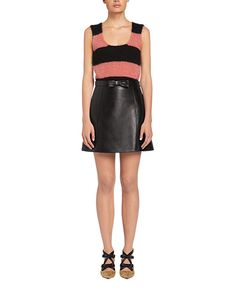 Nappa leather skirt, 40 cm long. Detail: Bow on the front Nappa leather: 100% Calf leather Dry clean Made in Italy