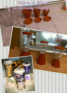 DIY Candy Jar Tutorial ... Soo easy & inexpensive!