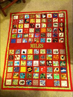 """""""I Spy"""" Quilt I made for my grandson who loves finding his favorite block... French Fries."""