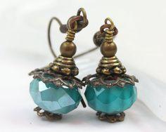 Czech Glass Earrings Drops