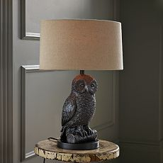 owl lamp from west elm