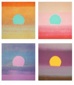 Andy Warhol, Sunsets, 1972 #landscape abstract sun sky colorful art