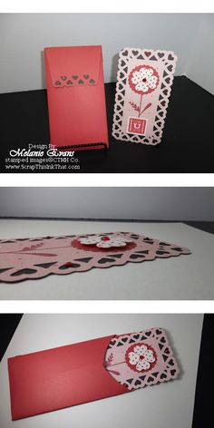 """Love U Lots"" Card & Envelope both created using the Cricut® Artiste Cartridge: http://melanieevans.ctmh.com/Retail/Product.aspx?ItemID=6719=1740"