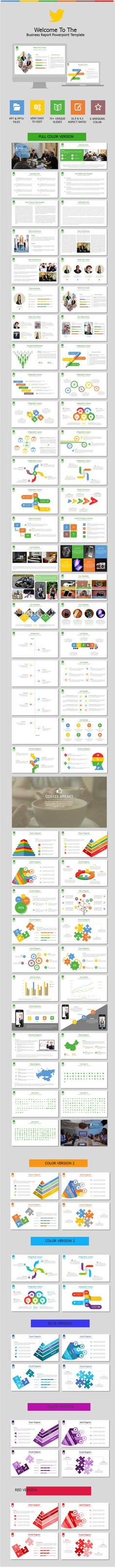 Mazata PowerPoint Template #design #slides Download   - business report templates