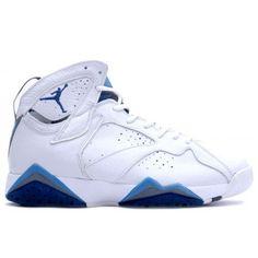 5d6cc1497d1 Air Jordan 7 (VII) Retro White French Blue Flint Grey cheap online $104.99  http