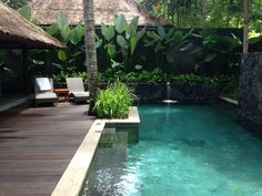Kayumanis ubud private villa & spa - 23 tips landscape pools Small Backyard Pools, Backyard Pool Designs, Tropical Pool Landscaping, Style Bali, Pond Design, Plunge Pool, Outside Living, Garden Pool, Back Gardens